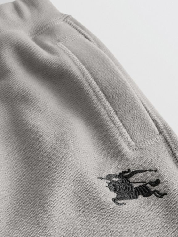 Cotton Jersey Trackpants in Chalk Grey Melange | Burberry United Kingdom - cell image 1