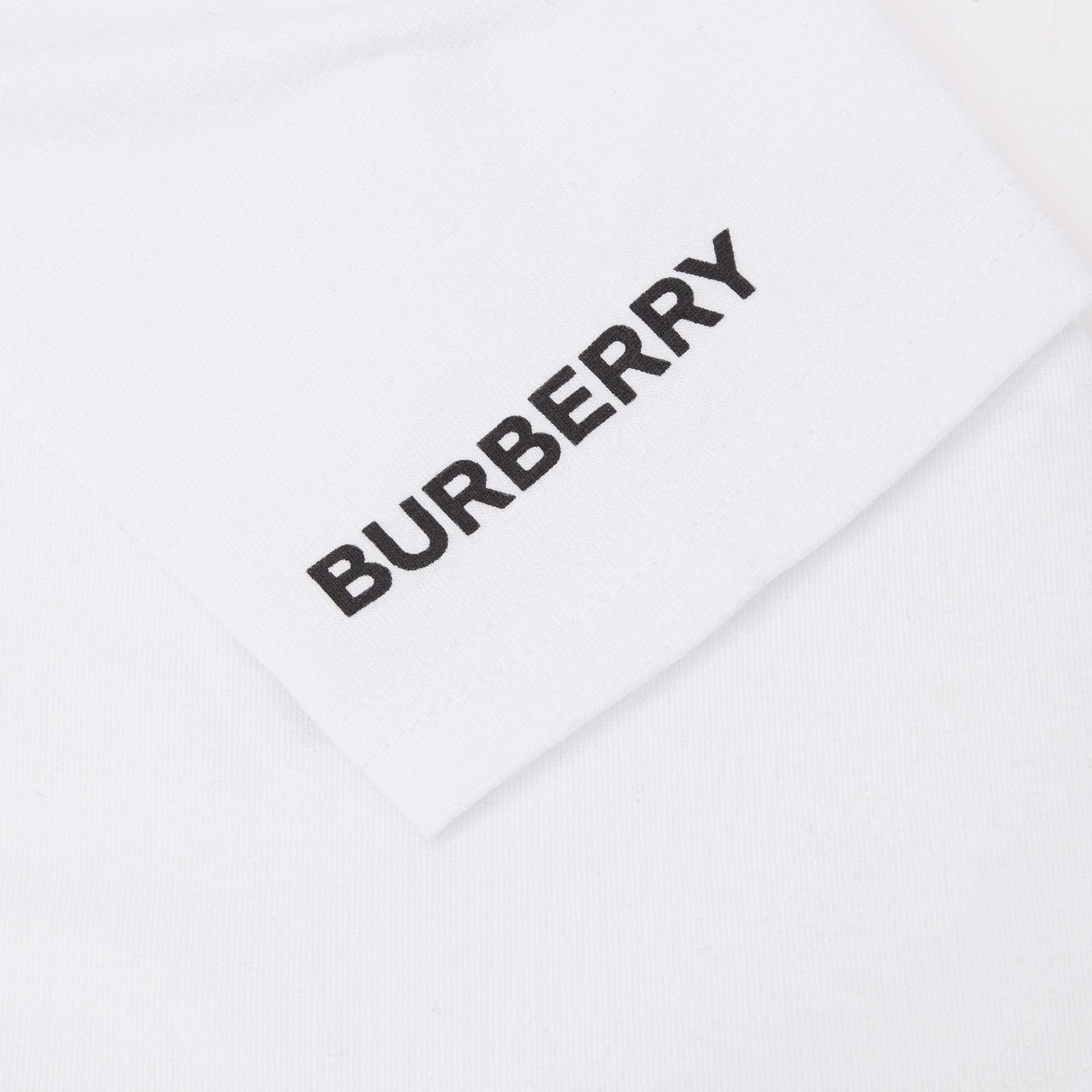 Deer Print Cotton T-shirt in White - Children | Burberry United Kingdom - gallery image 5