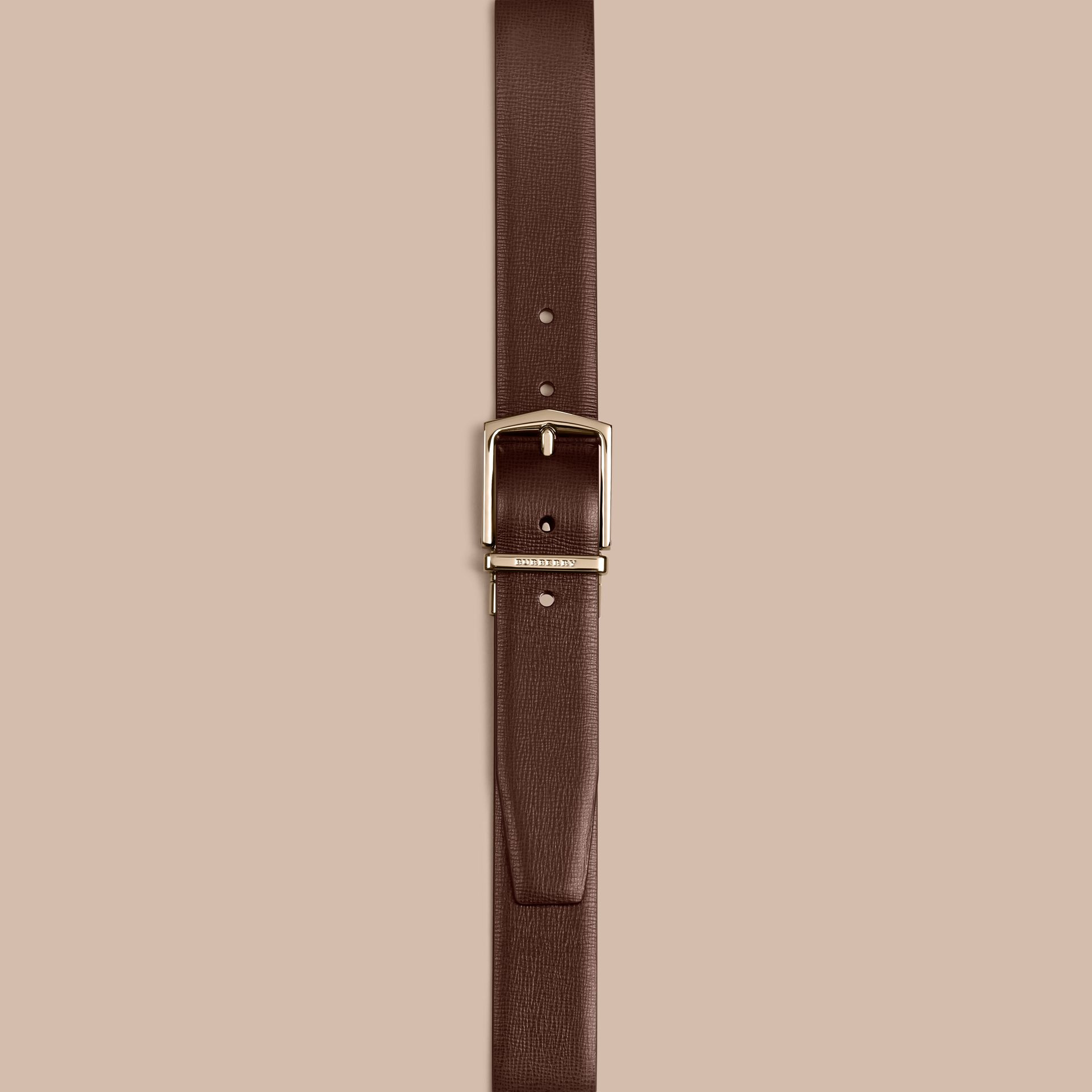Wine/black Reversible London Leather Belt - gallery image 2