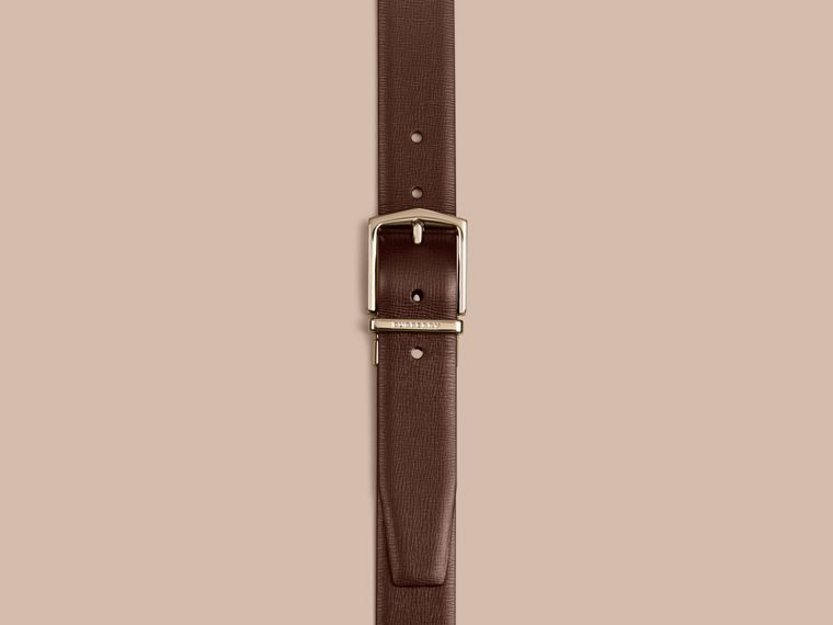 Wine/black Reversible London Leather Belt - cell image 1