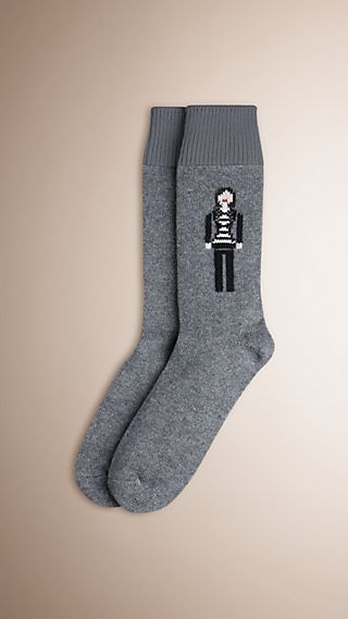 The Brit Girl Graphic Cashmere Socks