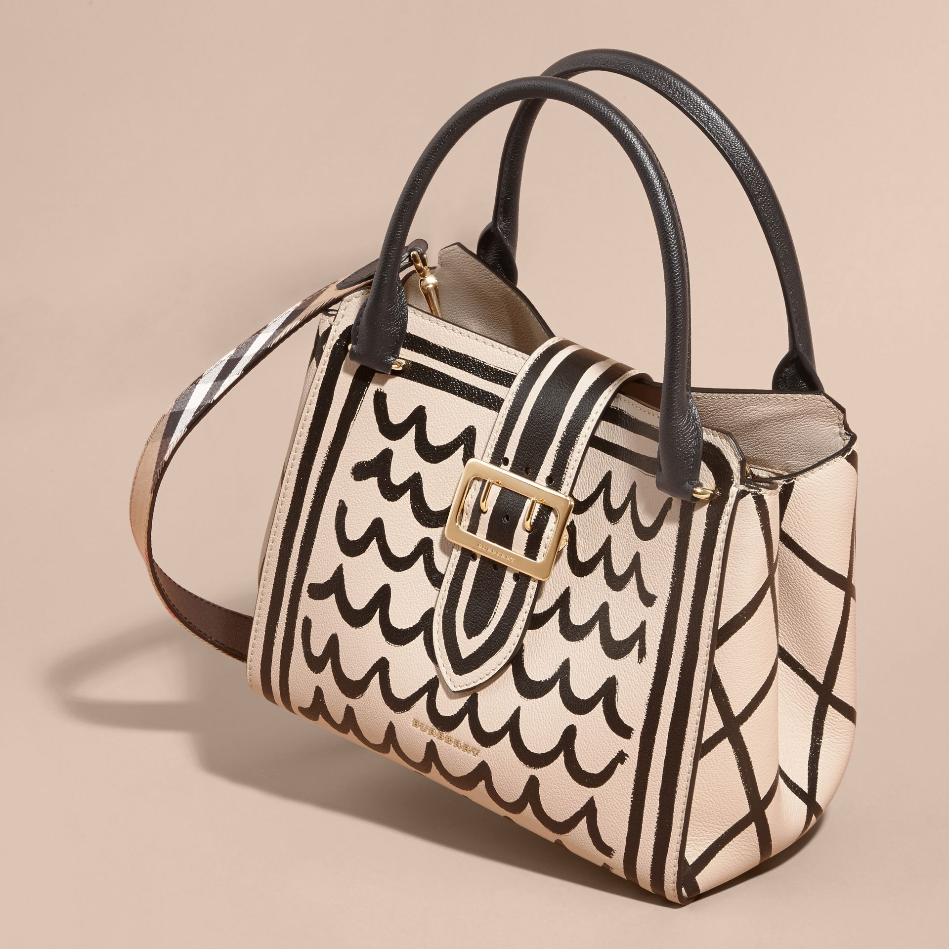 The Medium Buckle Tote in Trompe L'oeil Print Leather - gallery image 8