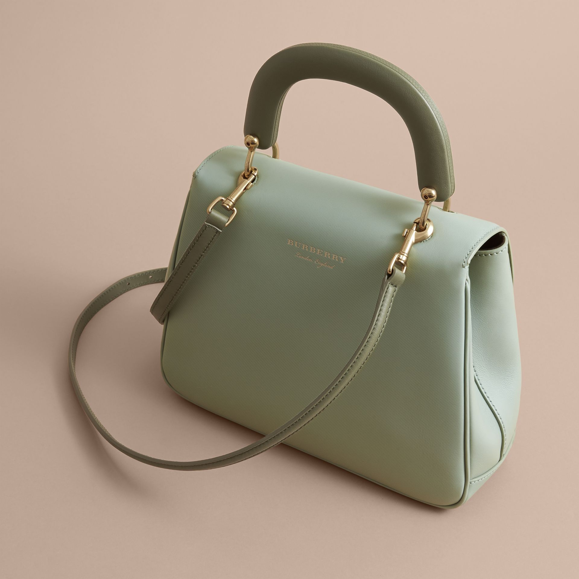 The Medium DK88 Top Handle Bag in Celadon Green - Women | Burberry - gallery image 3