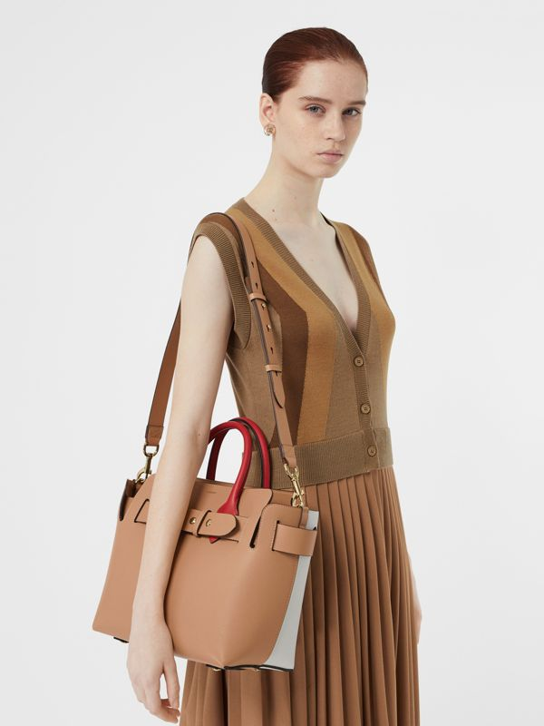 The Small Tri-tone Leather Triple Stud Belt Bag in Light Camel - Women | Burberry Canada - cell image 2