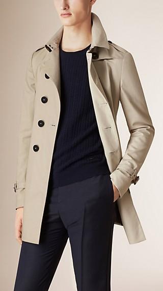 Trench-coat en coton avec éléments à imprimé zébré