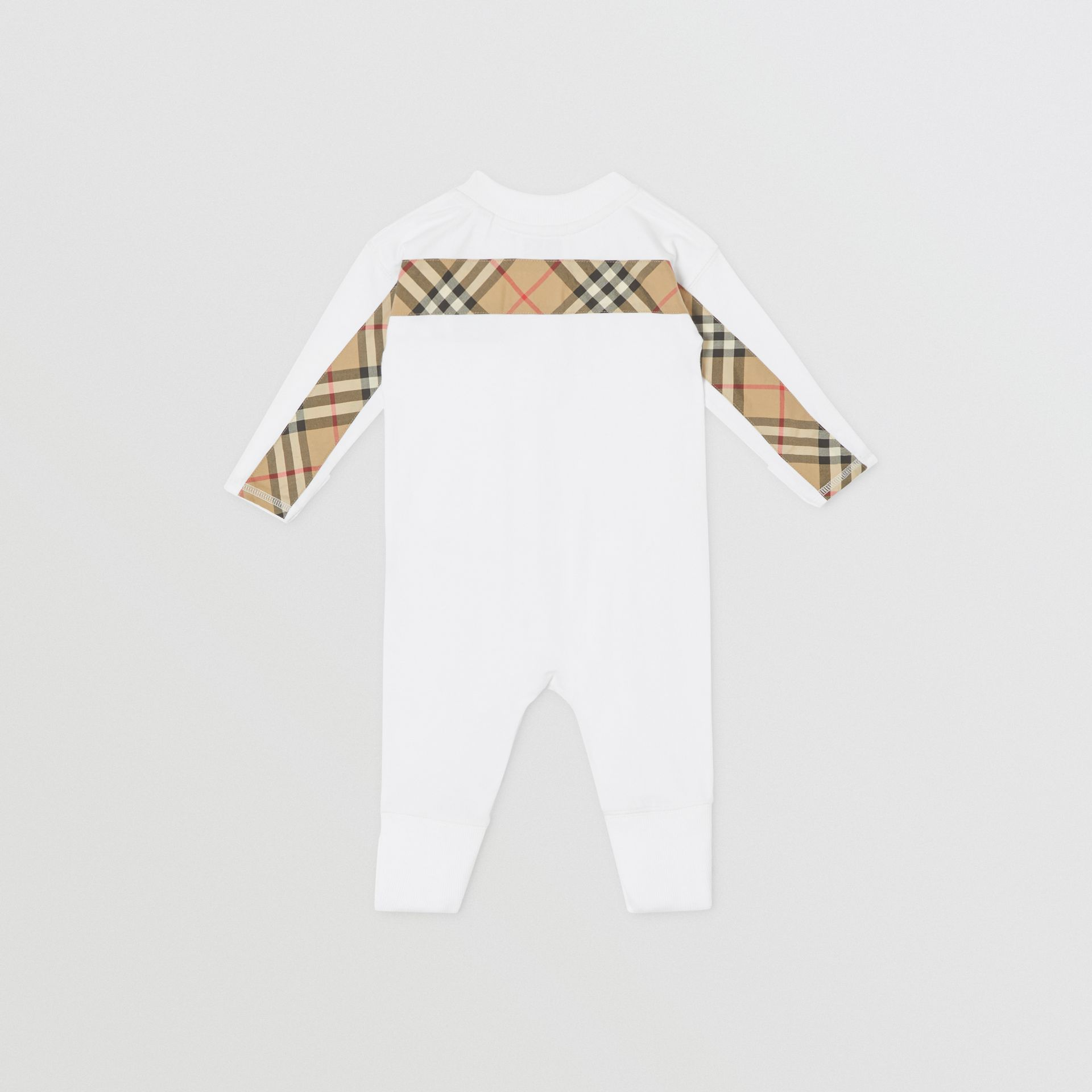 Check Trim Organic Cotton Three-piece Baby Gift Set in White - Children | Burberry United Kingdom - gallery image 5