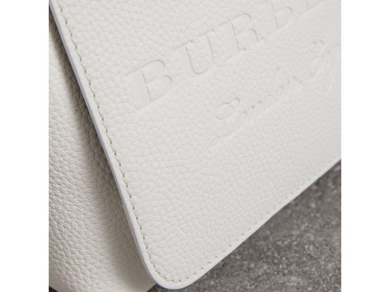 Small Embossed Leather Messenger Bag in Chalk White - Women | Burberry - cell image 1