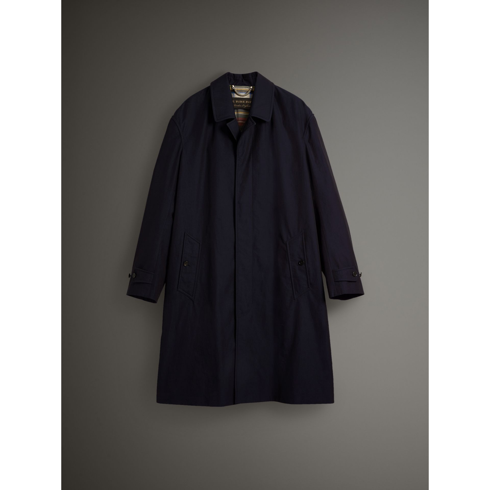Tropical Gabardine Car Coat in Blue Carbon - Men | Burberry - gallery image 3