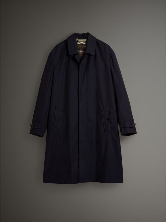 Cappotto car coat in gabardine tropicale (Blu Carbonio) - Uomo | Burberry - cell image 3