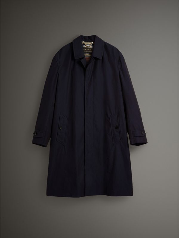 Tropical Gabardine Car Coat in Blue Carbon - Men | Burberry - cell image 3