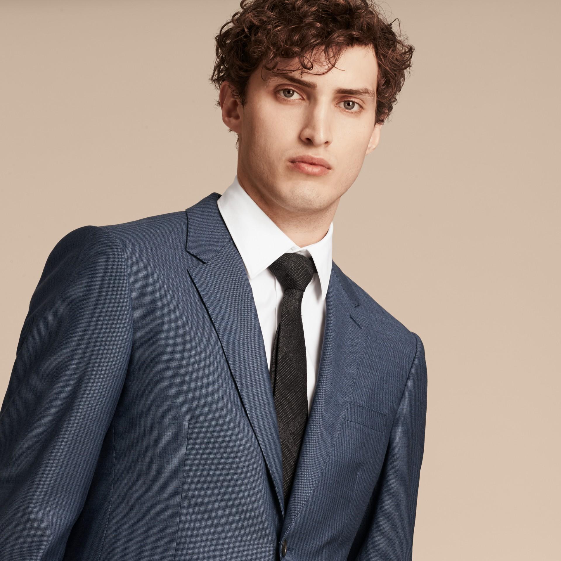 Bleu aérien Costume de coupe moderne en laine Travel Tailoring - photo de la galerie 3