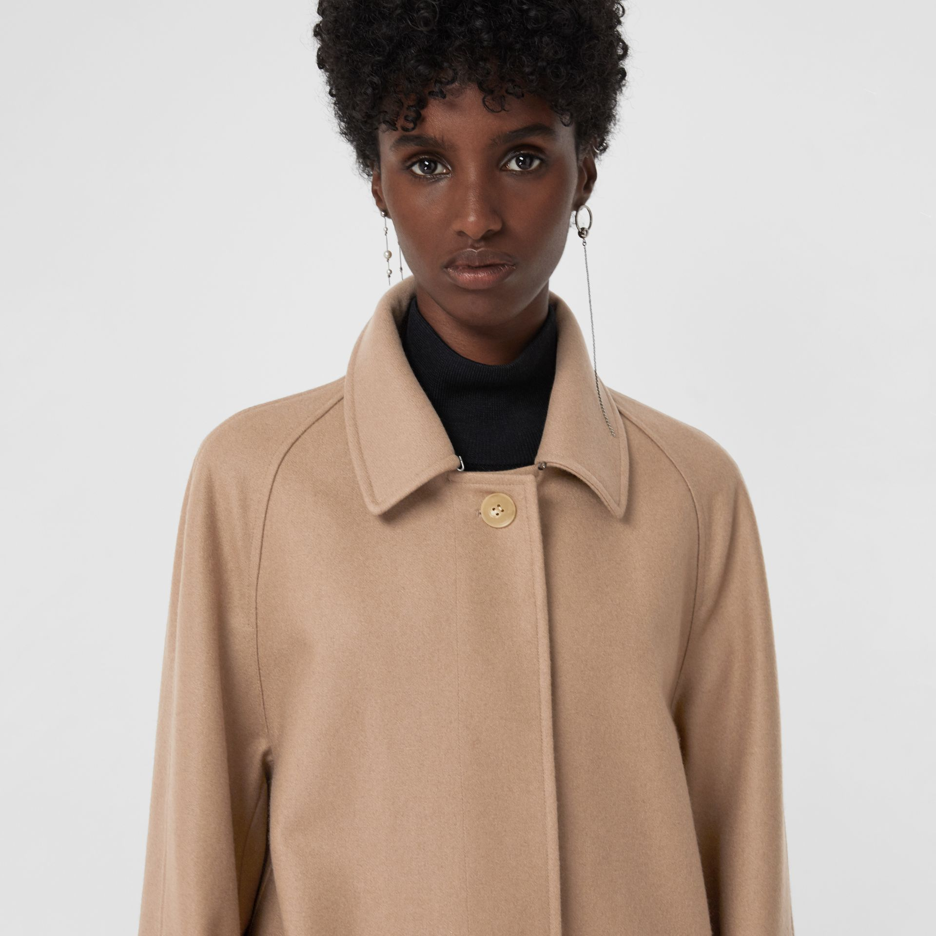 Cashmere Car Coat in Camel - Women | Burberry United Kingdom - gallery image 1