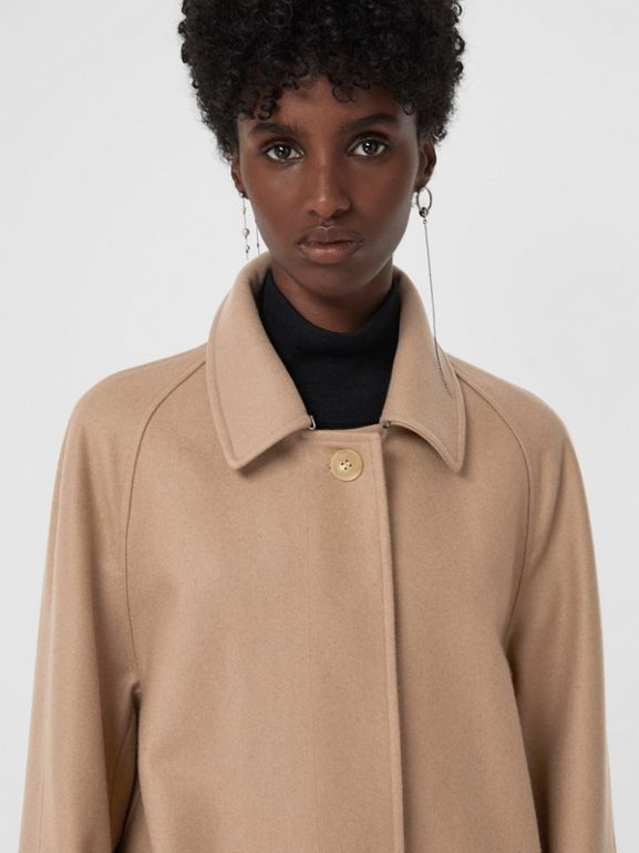 Cashmere Car Coat in Camel - Women | Burberry - cell image 1