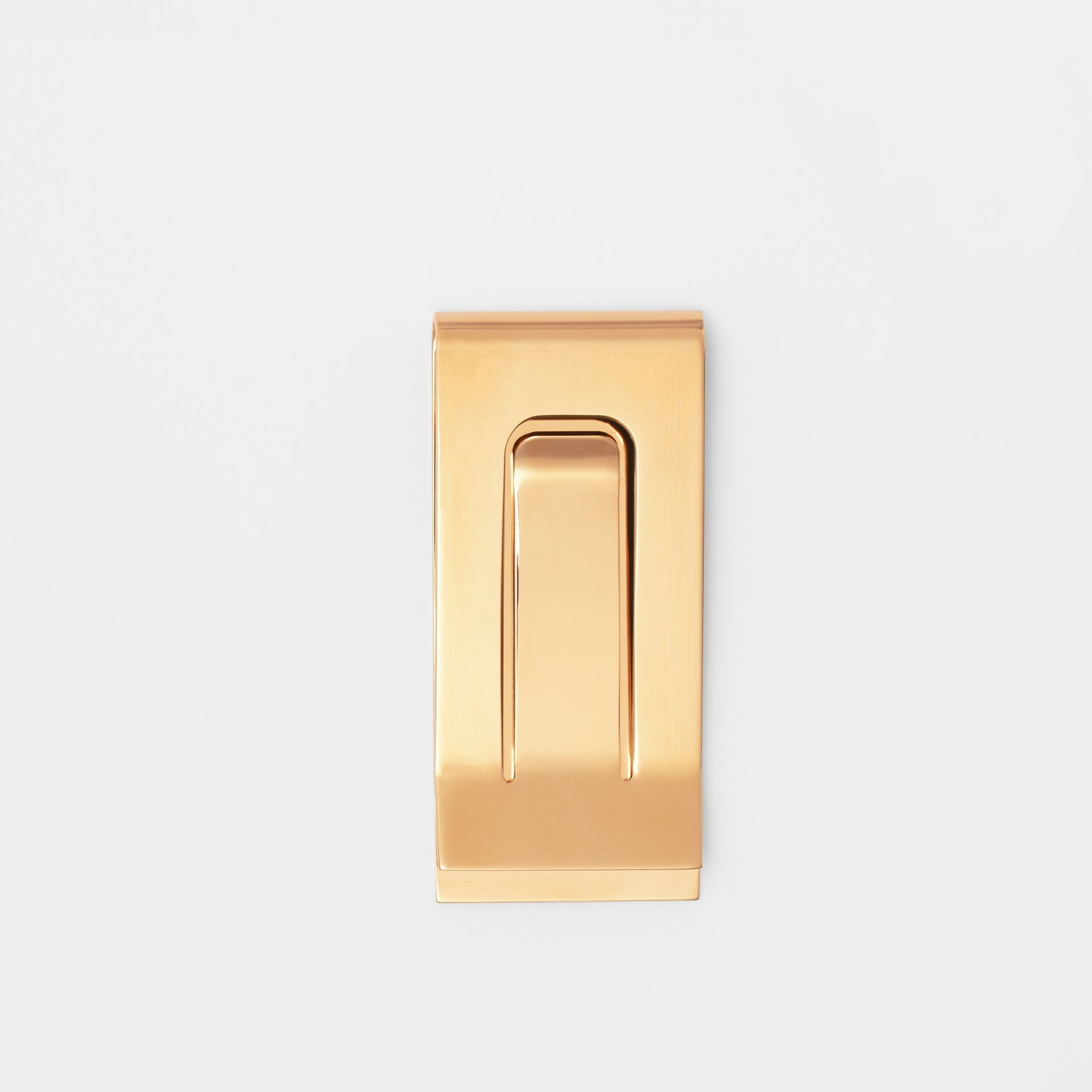 Engraved Bronze Money Clip in Light Gold - Men | Burberry United States - gallery image 2