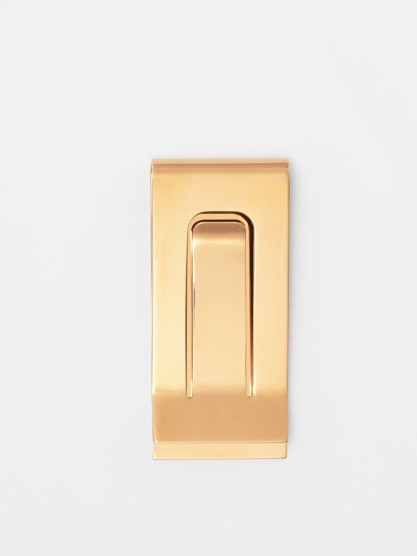 Engraved Bronze Money Clip in Light Gold - Men | Burberry - cell image 2