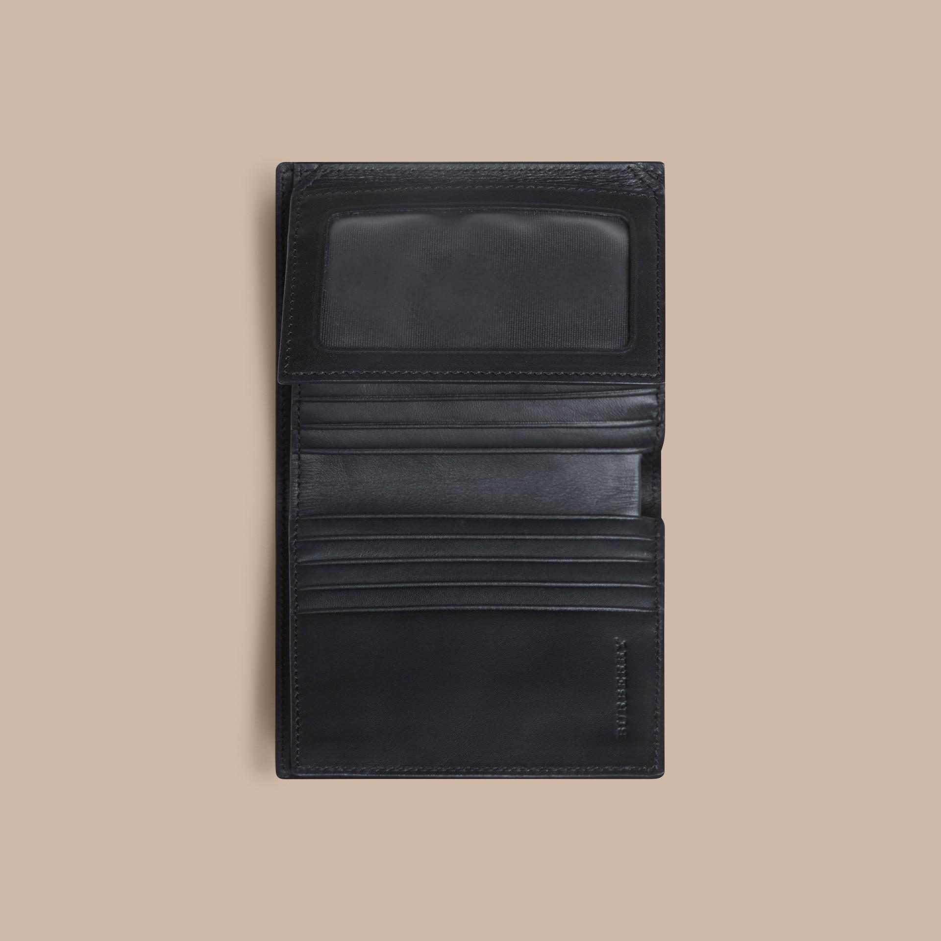 초콜릿/블랙 스모크 체크 아이디 지갑 초콜릿/블랙 - 갤러리 이미지 4