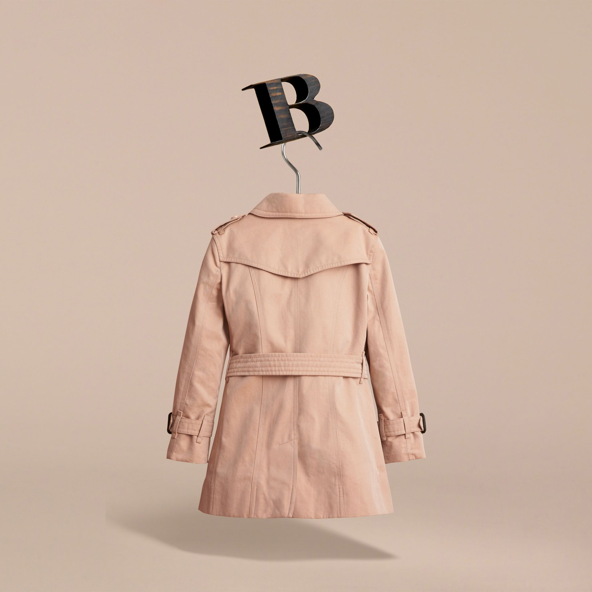 The Sandringham – Heritage Trench Coat in Stone - Girl | Burberry United Kingdom - gallery image 4