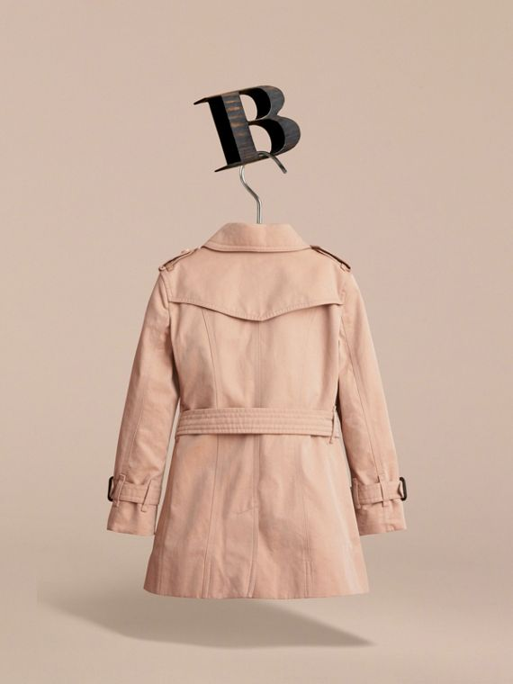 The Sandringham – Heritage Trench Coat in Stone - Girl | Burberry United Kingdom - cell image 3