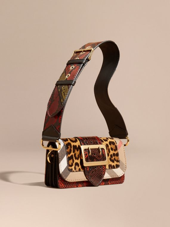 The Patchwork in Leopard-print Calfskin and Snakeskin - Women   Burberry