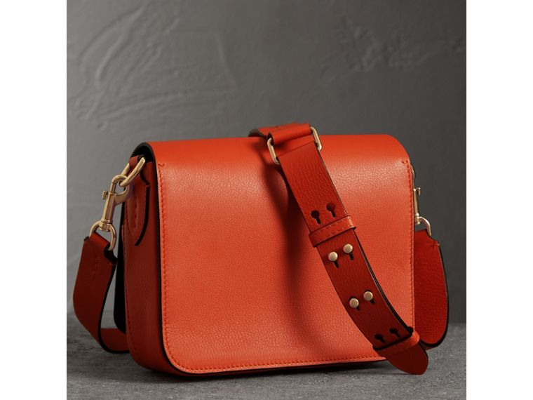 The Square Satchel in Leather in Clementine - Women | Burberry - cell image 4