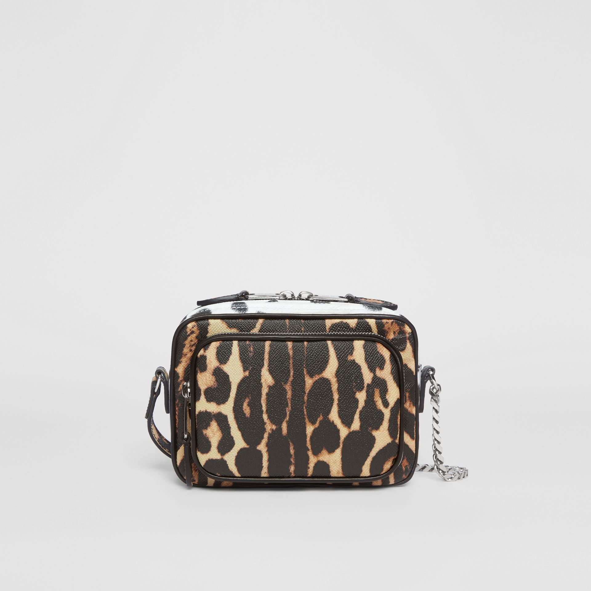 Animal Print Leather Camera Bag in Honey/black - Women | Burberry - gallery image 0