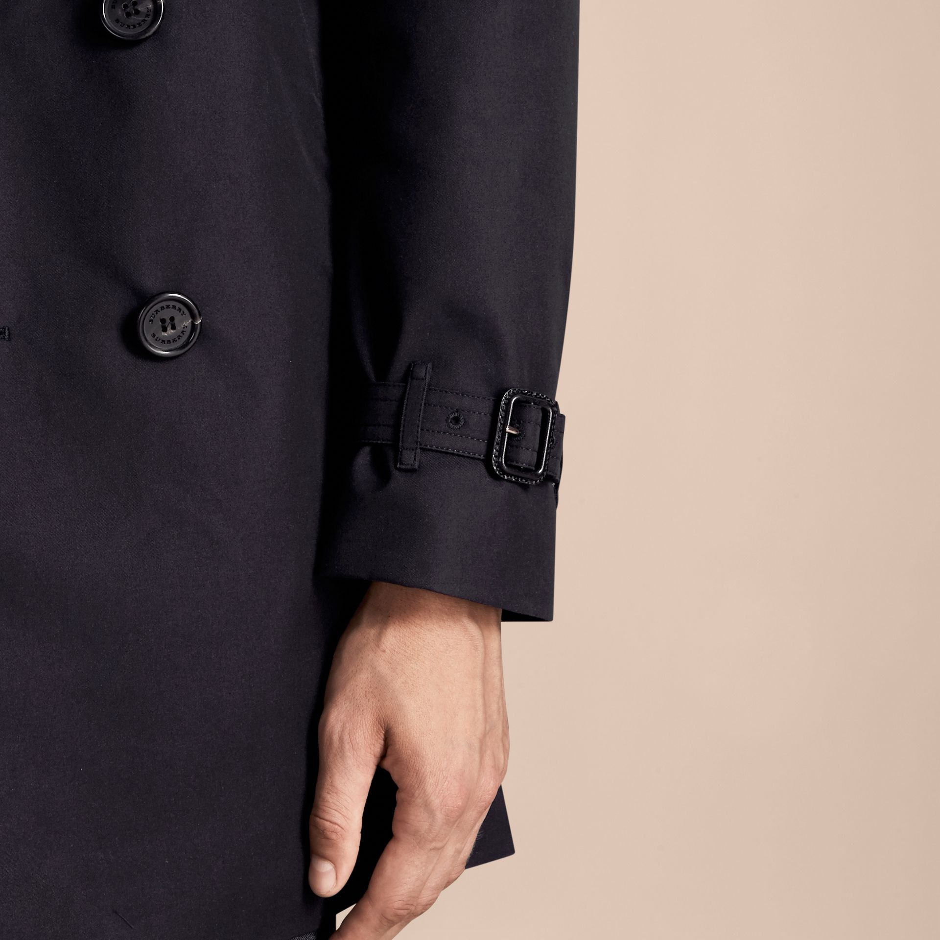 Navy The Chelsea – Long Heritage Trench Coat Navy - gallery image 7