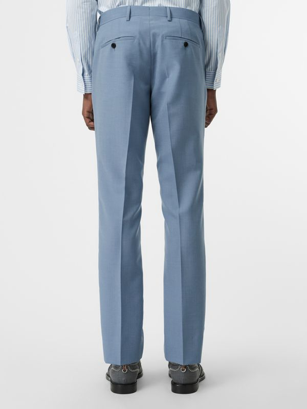 Classic Fit Wool Tailored Trousers in Pale Blue - Men | Burberry United Kingdom - cell image 2