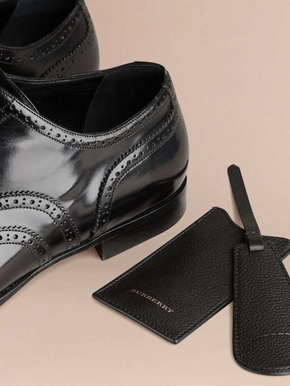 Leather Shoe Horn in Black - Men | Burberry - cell image 2