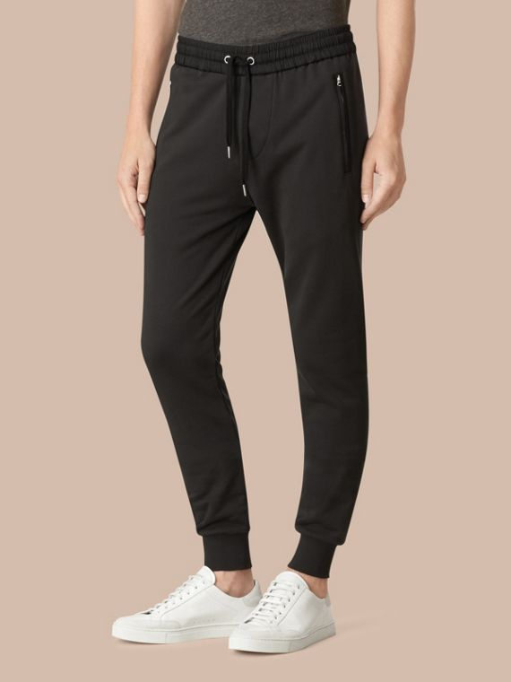 Cotton Sweatpants in Black - Men | Burberry Canada - cell image 3
