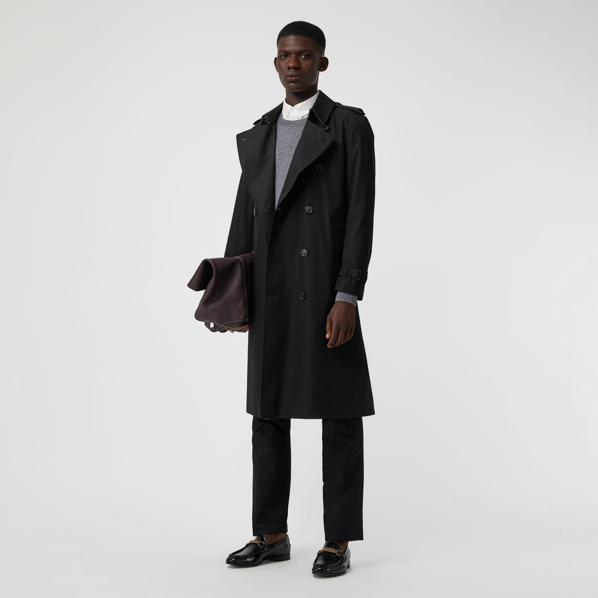 The Long Kensington Heritage Trench Coat in Black - Men | Burberry Singapore - gallery image 0