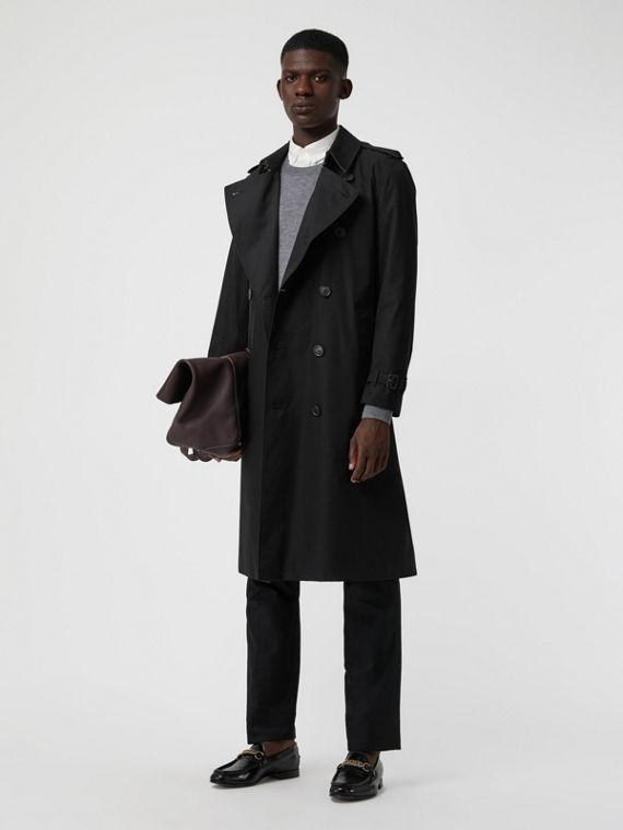 Trench coat Heritage Kensington largo (Negro)