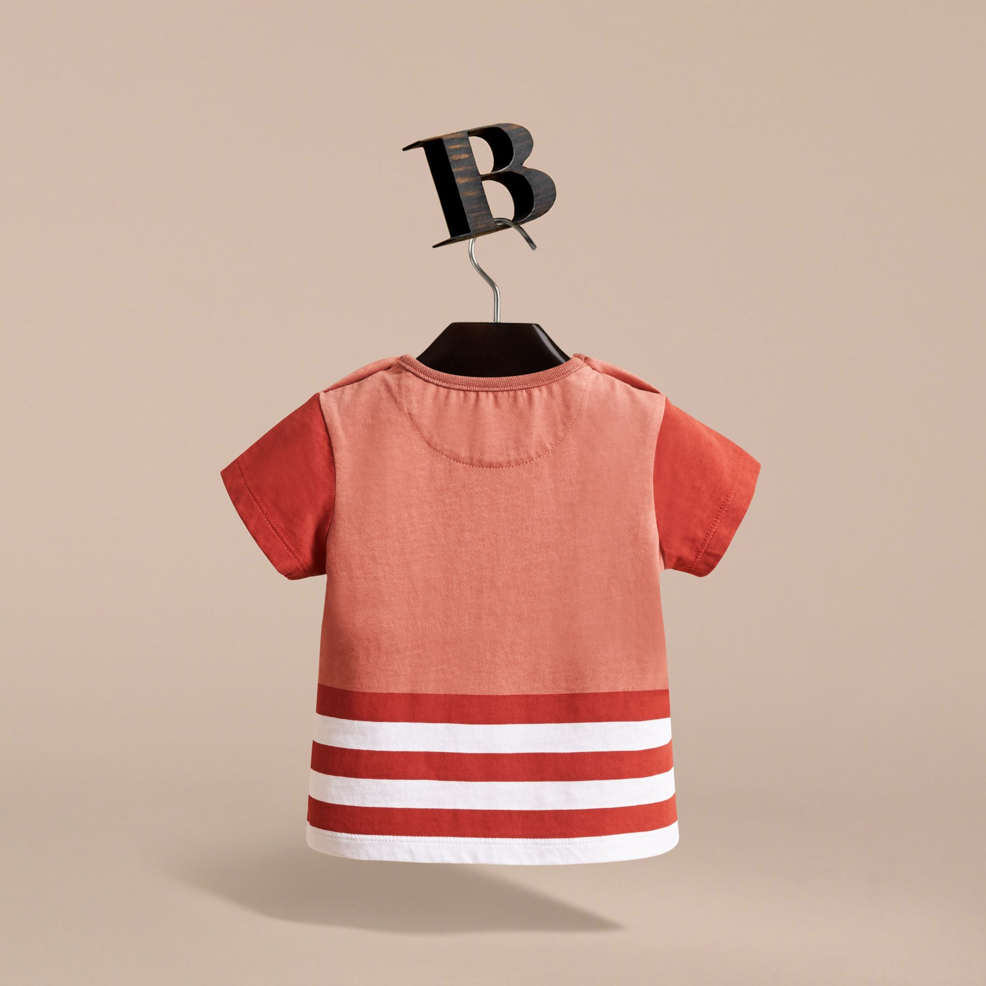 Bearded Gent Print Cotton T-shirt in Pale Cinnamon | Burberry - gallery image 4