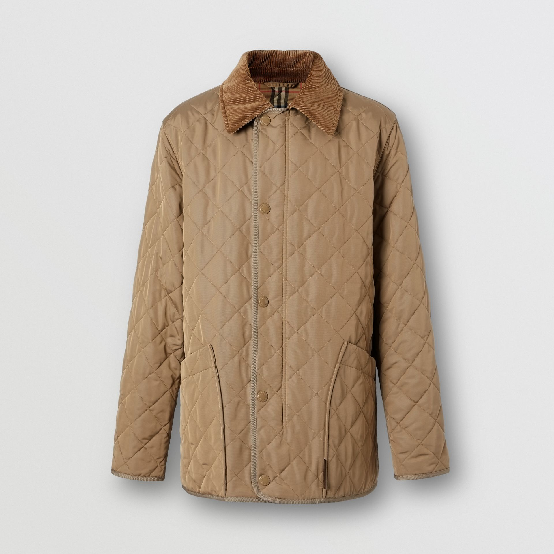 Diamond Quilted Thermoregulated Barn Jacket in Pale Granite - Men | Burberry - gallery image 3