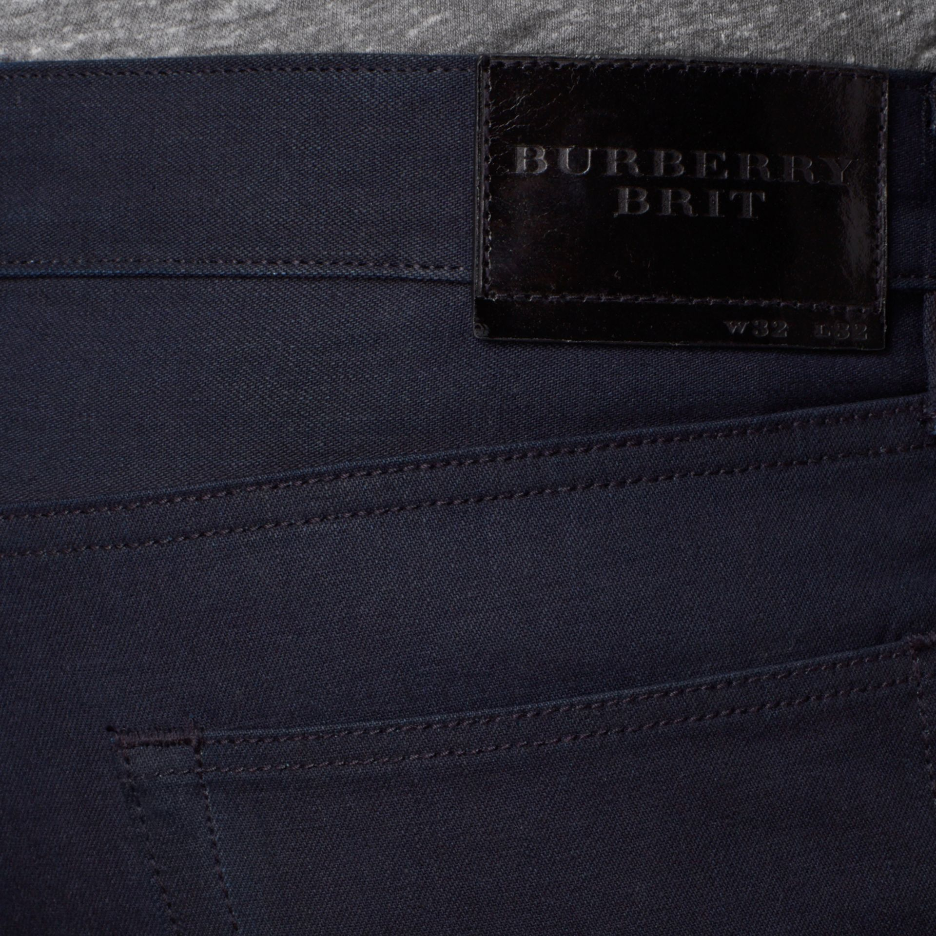 Dark indigo Slim Fit Saturated Selvedge Jeans - gallery image 4