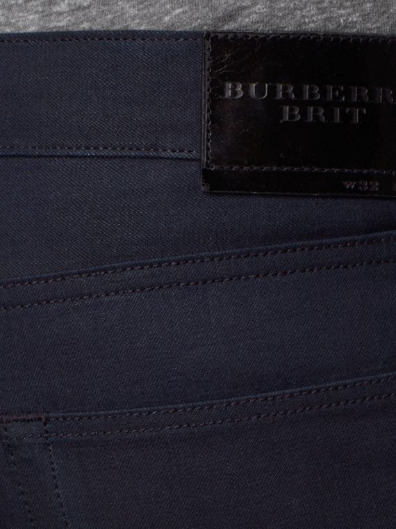 Dark indigo Slim Fit Saturated Selvedge Jeans - cell image 3