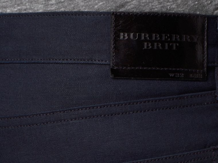Slim Fit Saturated Selvedge Jeans - Men | Burberry - cell image 4