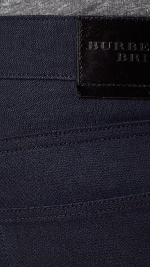 Dark indigo Slim Fit Saturated Selvedge Jeans - Image 4