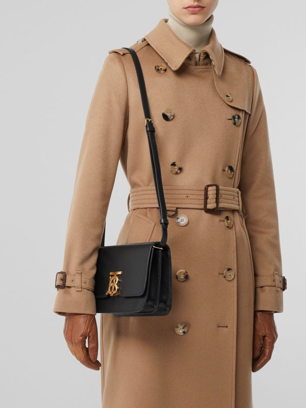Small Grainy Leather TB Bag in Black - Women | Burberry - cell image 2