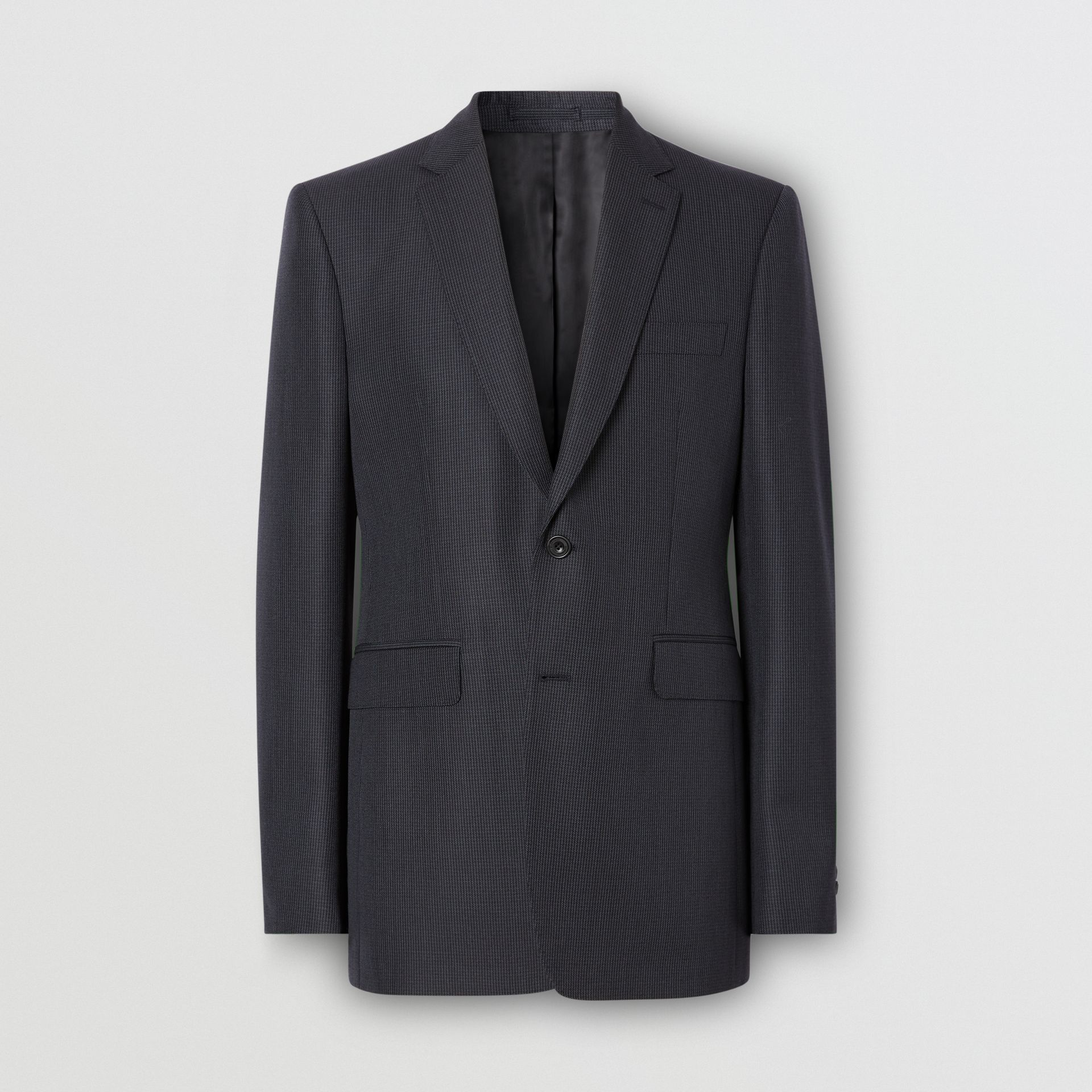 Classic Fit Puppytooth Check Wool Mohair Suit in Navy - Men | Burberry - gallery image 3