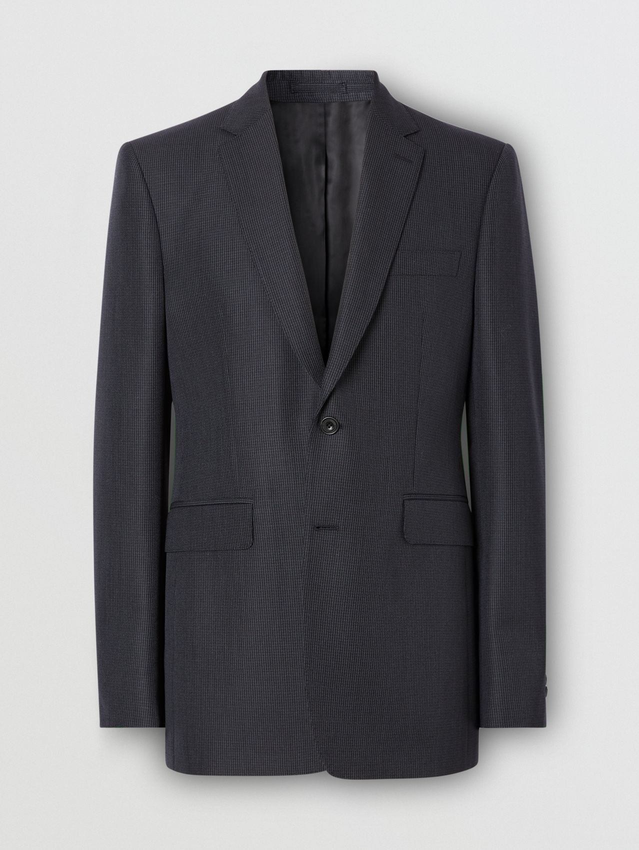 Classic Fit Puppytooth Check Wool Mohair Suit (Navy)