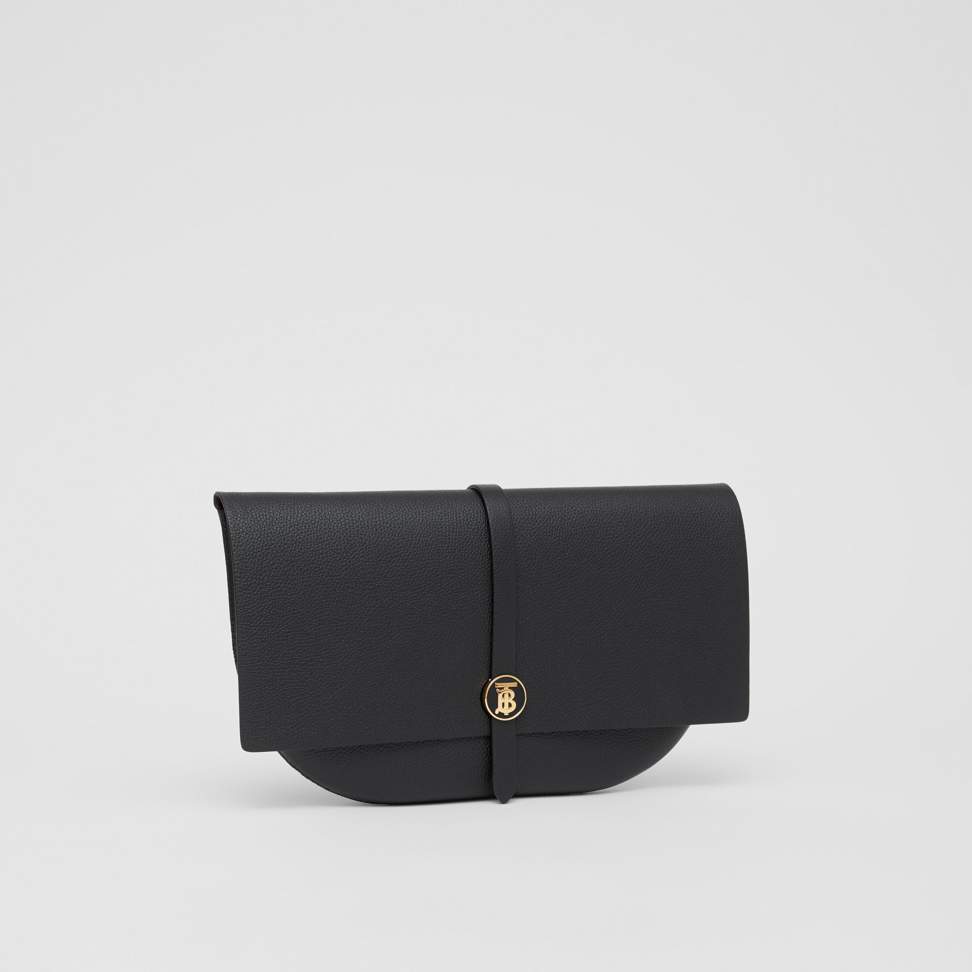 Grainy Leather Anne Clutch in Black - Women | Burberry United Kingdom - gallery image 6