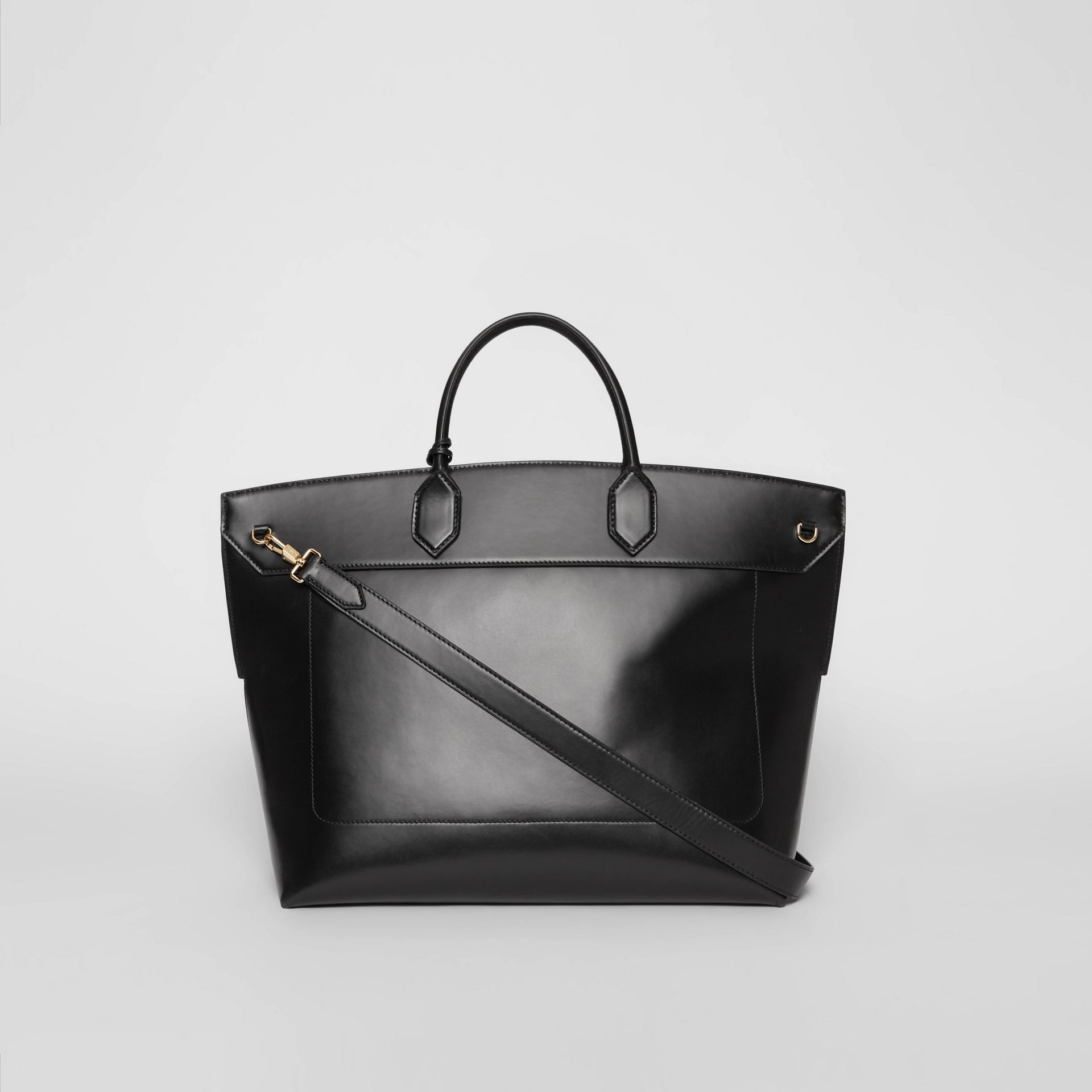 Leather Society Top Handle Bag in Black - Women | Burberry - gallery image 7