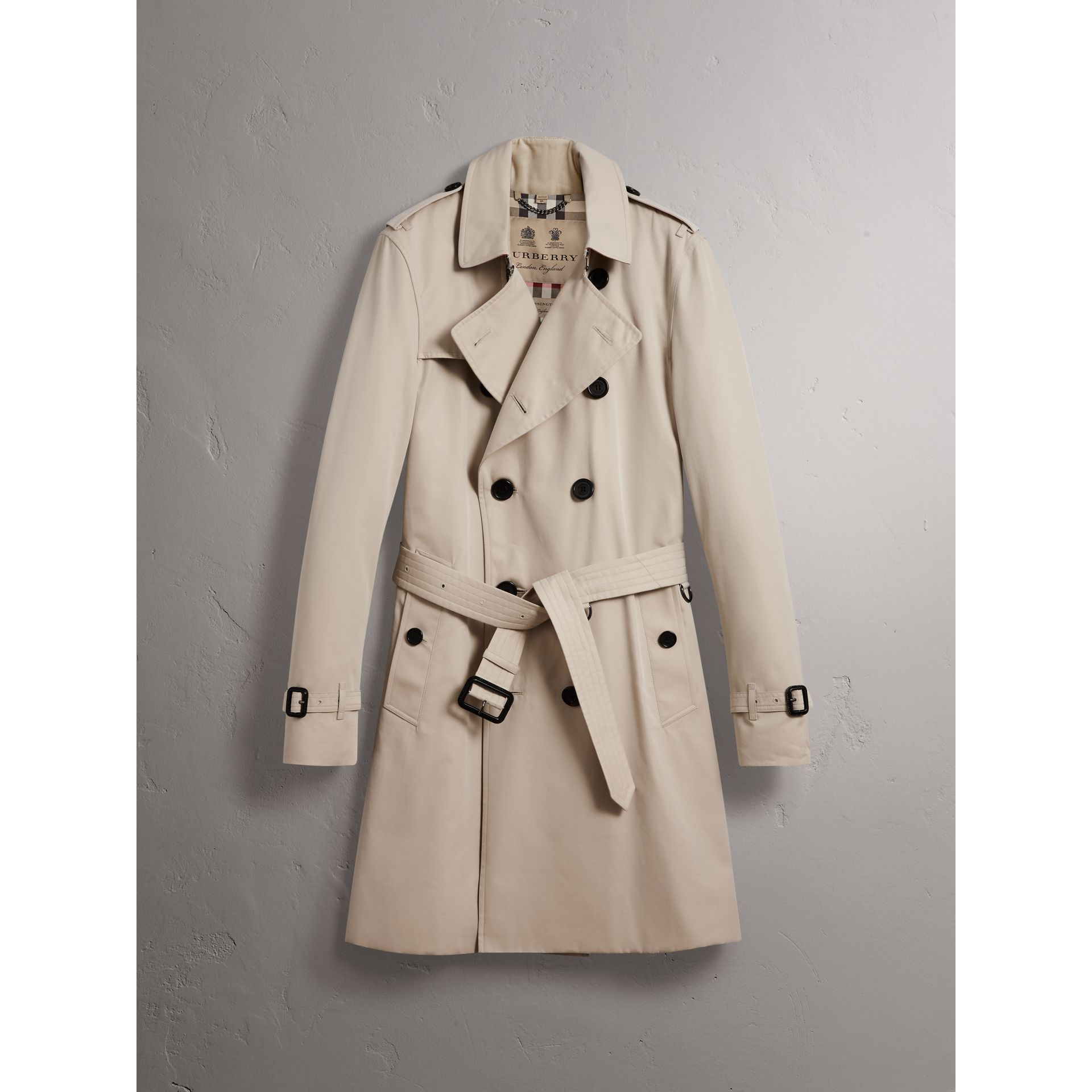 The Kensington – Long Trench Coat in Stone - Men | Burberry Singapore - gallery image 4