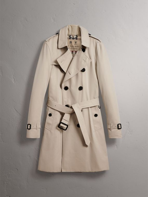 The Kensington – Long Trench Coat in Stone - Men | Burberry - cell image 3