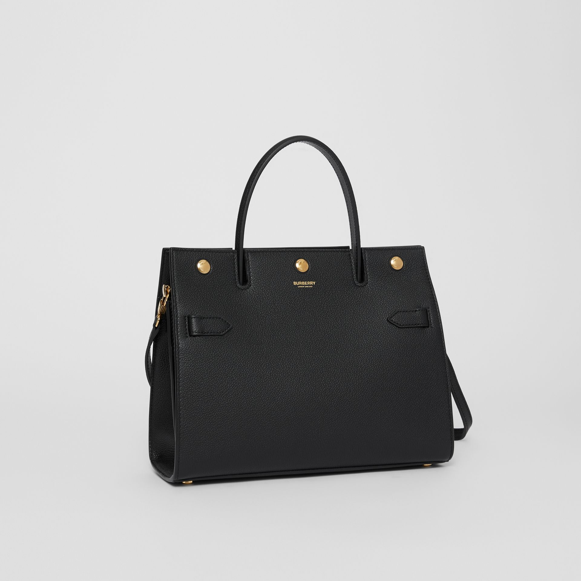 Small Leather Title Bag in Black - Women | Burberry - gallery image 6