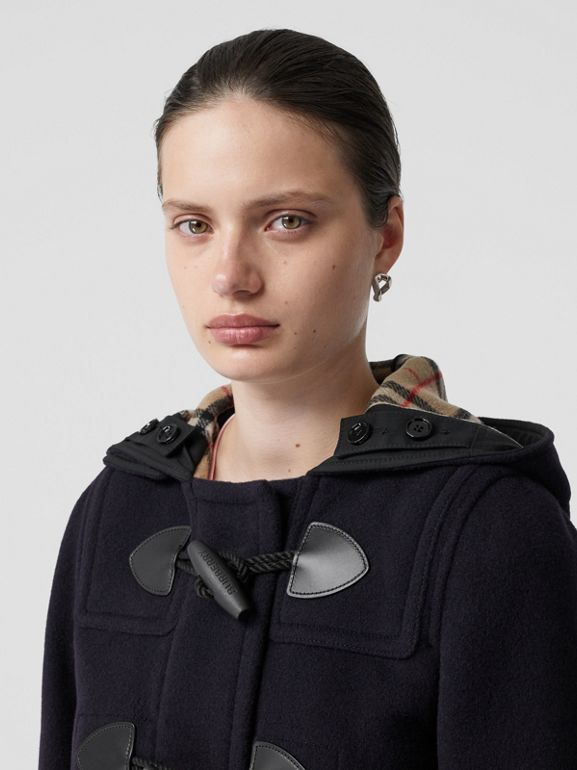 Wool Blend Duffle Coat in Navy - Women | Burberry - cell image 1