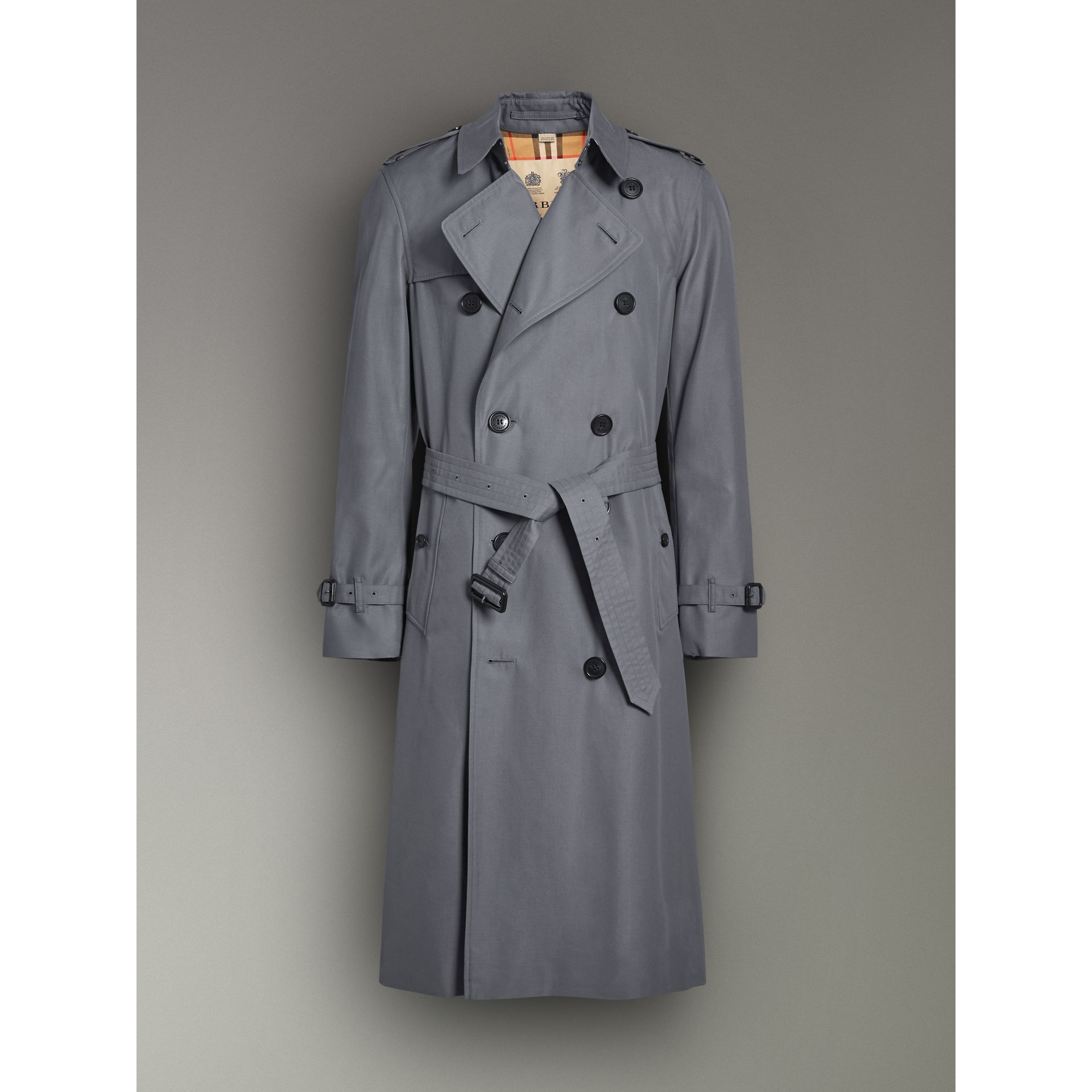 The Chelsea – Trench Heritage long (Gris Moyen) - Homme | Burberry - photo de la galerie 3