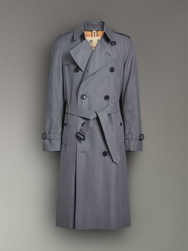 Trench coat Heritage The Chelsea lungo (Grigio Medio) - Uomo | Burberry - cell image 3