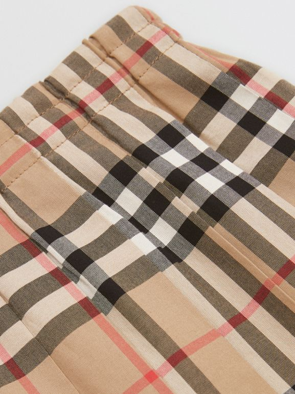 Vintage Check Pleated Skirt in Archive Beige | Burberry United Kingdom - cell image 1