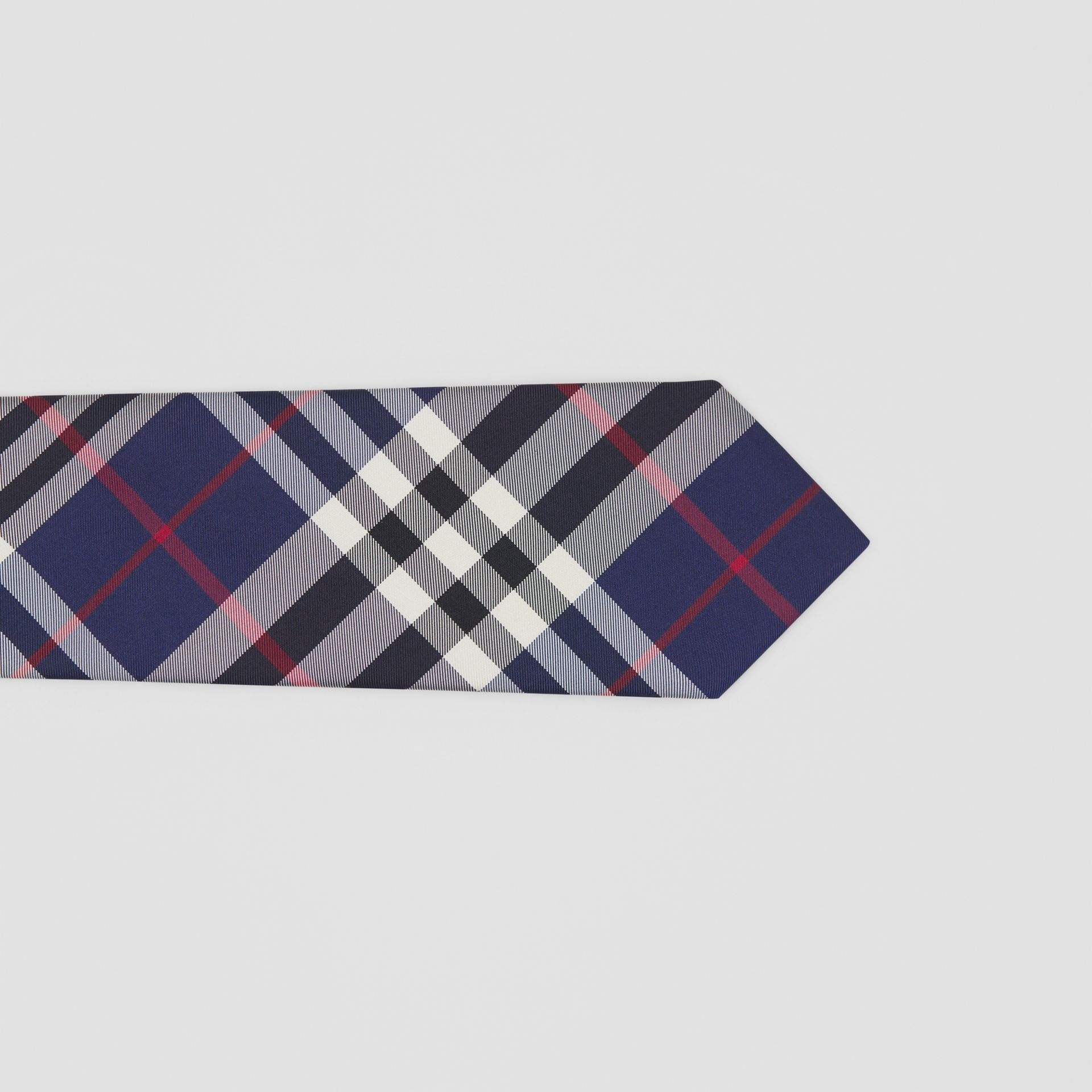 Classic Cut Check Silk Tie in Navy - Men | Burberry Hong Kong S.A.R - gallery image 1